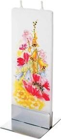 Lumanare plata pictata flori salbatice Flatyz