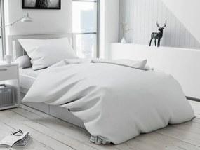 Textilomanie Lenjerie de pat din bumbac, standard, albă, cu Nasturi