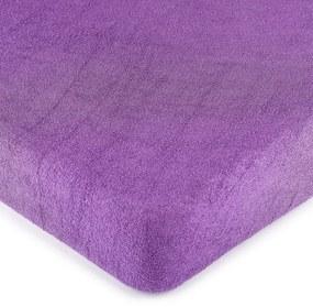 Cearșaf 4Home, din bumbac fin, violet, 140 x 200 cm