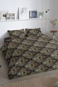 Home lenjerie de plapuma neagra din bumbac pentru un pat de o persoana Good Morning Bibi 140x200/220cm