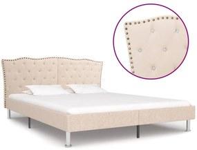 280535 vidaXL Cadru de pat, bej, 160 x 200 cm, material textil