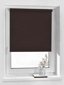Rolete textile blackout maro 64x160 cm Vidella