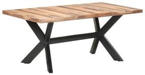 321548 vidaXL Masă de bucătărie, 180x90x75 cm, lemn masiv cu finisaj sheesham
