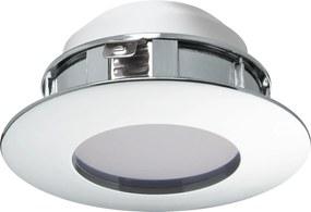 Spot incastrat PINEDA, 95812, LED, 6W, Ø 78, 500 Lumeni, 3000 K (Calda), Plastic / Crom