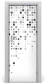 Autocolante pentru usi Autocolant patratele adezive Abstracție DOOR
