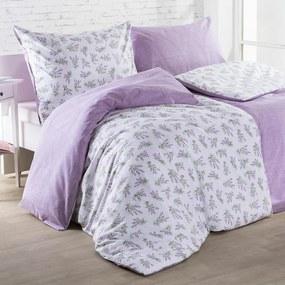 Lenjerie de pat din bumbac LILIANA violet lungime standard