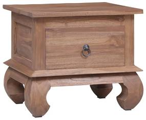 287732 vidaXL Noptieră, 45x35x40 cm , lemn masiv de tec