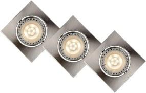 Lucide 11002/15/12 - SET 3x Lampa incastrata LED FOCUS 3xGU10/5W/230V crom