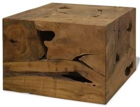 244557 vidaXL Măsuță de cafea, 50 x 50 x 35 cm, lemn de tec natural, maro