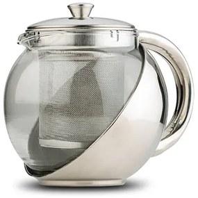 Ceainic 500 ml din sticla cu corp si infuzor din otel inoxidabil Acer NAVA NV 224 020