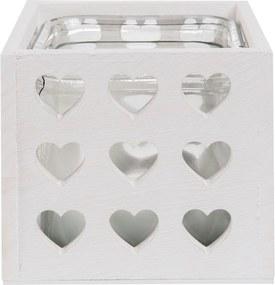 Vaza Heart White 14 x 14 x 13 cm