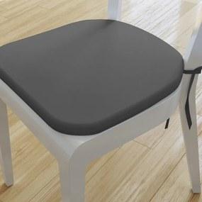 Goldea pernă pentru scaun rotundă din bumbac 39x37cm - gri închis 39 x 37 cm