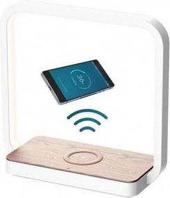 LED Lampă de masă cu touch dimmabilă LED/4W/5V alb încărcare wireless