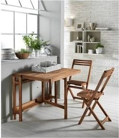 Masă extensibilă cu 2 scaune din lemn de salcâm pentru exterior Design Twist Cahul