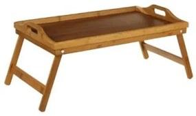 Tava servire pat, bambus, 59x30x24 cm