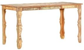 286489 vidaXL Masă de bucătărie, 140 x 70 x 76 cm, lemn masiv reciclat