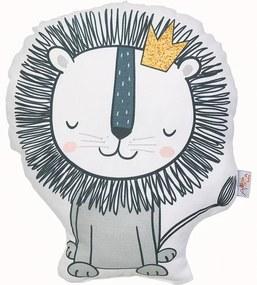 Pernă din amestec de bumbac pentru copii Mike & Co. NEW YORK Pillow Toy Lion, 33 x 28 cm