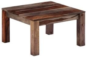 247471 vidaXL Măsuță de cafea, gri, 60x60x35 cm, lemn masiv de sheesham