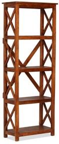 245646 vidaXL Bibliotecă lemn masiv salcâm, finisaj palisandru, 60x30x160 cm