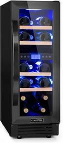 Klarstein Vinovilla Onyx17, vinotecă cu zonă dublă, 53 l, 17 sticle, ușa din sticlă în 3 culori