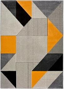 Covor Universal Gladys Duro, 140 x 200 cm, portocaliu-gri