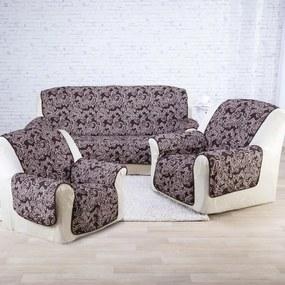 Cuverturi pentru canapea şi fotoliu cu braţe, ciocolată şezut 160 cm