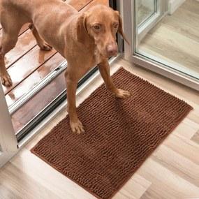 Covor câine InnovaGoods Pet Doormat, 85 x 65 cm, maro