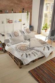 Home lenjerie de pat maro reversibila pentru pat dublu Hip Vandya 200x200/220cm