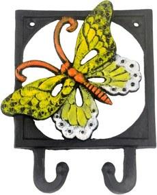Cârlig din fontă Sharks Butterfly, galben