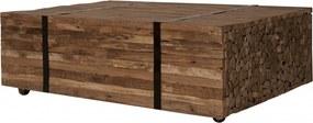 Masuta de cafea dreptunghiulara din lemn de tec Seadrift 110x72x35 cm maro