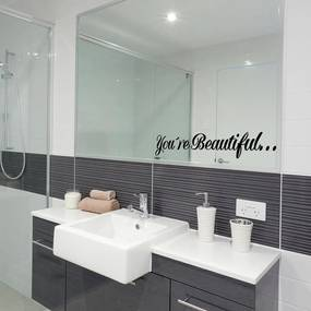 You´re Beautiful - autocolant de perete Negru 35 x 7 cm