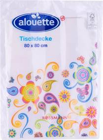 "Fata de masa cu model abstract, ""Alouette"", flori"