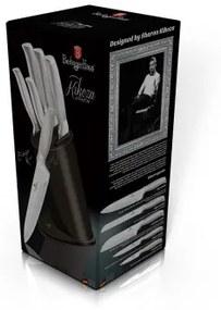 Set cutite otel inoxidabil (6 piese) Carbon Metallic Kikoza Collection Berlinger Haus BH 2264A