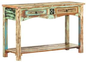 247925 vidaXL Masă consolă, 120 x 40 x 75 cm, lemn masiv reciclat