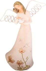 Decorațiune în formă de înger cu porumbel Dakls Angel, înălțime 21 cm