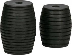 Set 2 suporturi pentru lumanare negre din lemn de mango Zuri