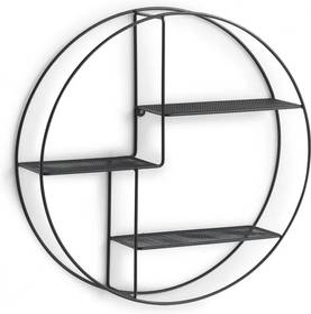 Etajera Zeller Round Black, otel, Ø 55 x 12 cm