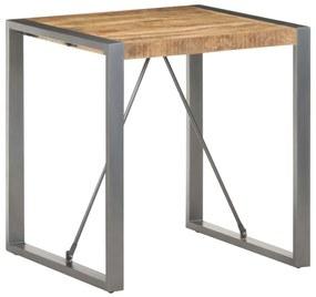 321599 vidaXL Masă de bucătărie, 70x70x75 cm, lemn masiv de mango nefinisat