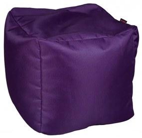 Fotoliu Bean Bag, Interior-Exterior, Tip Taburet Patrat Violet