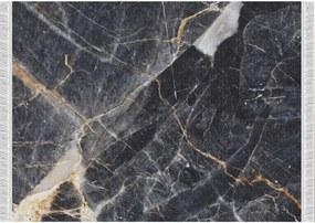 Covor, model marmură neagră, 80x200, RENOX TYP 1