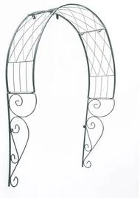 Pergola metalica, arcada, pentru usa, 110x21x106 cm