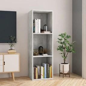 800139 vidaXL Bibliotecă/Comodă TV, gri beton, 36 x 30 x 114 cm, PAL