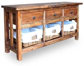 244488 vidaXL Bufet din lemn masiv reciclat, 100 x 30 x 50 cm