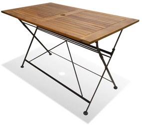 43728 vidaXL Masă de grădină pliabilă din lemn de acacia 120 x 70 x 74 cm