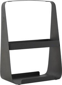 Raft Metalic pentru Reviste - Otel Negru lungime(25cm) x adancime(13.5cm) x inaltime(35cm)