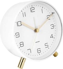 Ceas cu alarmă Karlsson Lofty, ø 11 cm, alb