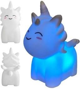 Lampa de veghe Unicorn, lumineaza in 7 culori, cu baterii