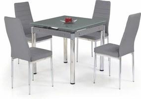 KENT masă extensibilă gri, oțel cromat