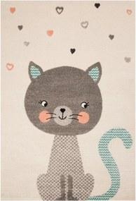 Covor crem pentru copii 170x120 cm Cat Alex Zala Living