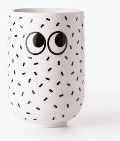 Cană Just Mustard Googly Eyes, alb